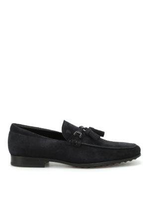 Tod'S: Loafers & Slippers - Suede loafers with tassels