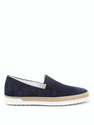 Tod'S: Loafers & Slippers - Suede slip-ons