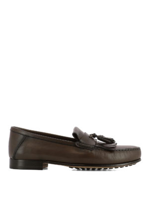TOD'S: Mocassini e slippers - Mocassini con frangia e nappine