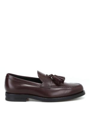 TOD'S: Mocassini e slippers - Mocassino formale con nappine in pelle madera