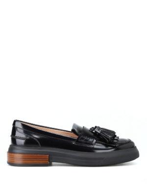 TOD'S: Mocassini e slippers - Mocassini spazzolati con nappe