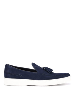 Tod'S: Loafers & Slippers - Tassels detail suede loafers