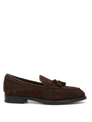 Tod'S: Loafers & Slippers - Tassels detailed suede loafers