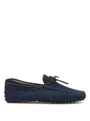 Tod'S: Loafers & Slippers - Textured suede loafers
