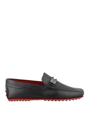 TOD'S: Mocassini e slippers - Mocassini Tod's for Ferrari dettaglio logo
