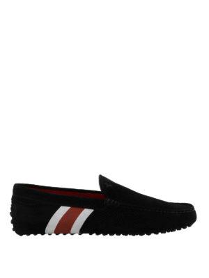 TOD'S: Mocassini e slippers - Mocassini Tod's for Ferrari dettaglio stripe