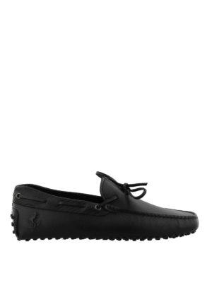 TOD'S: Mocassini e slippers - Mocassini in pelle nera Tod's for Ferrari