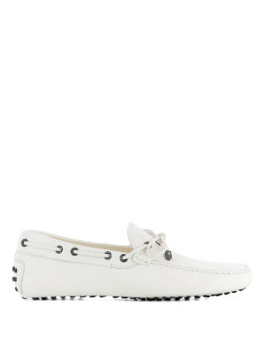 TOD'S: Mocassini e slippers - Mocassini bianchi in pelle