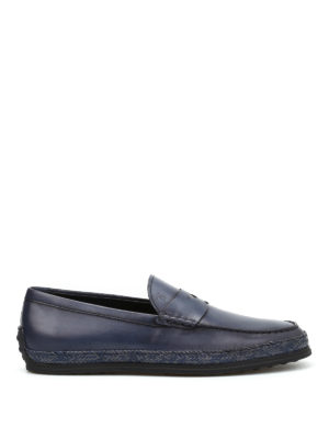 Tod'S: Loafers & Slippers - Woven leather loafers