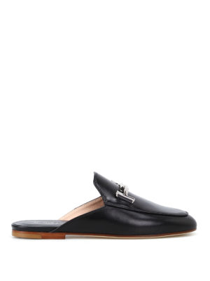Tod'S: mules shoes - 79A double T leather mules