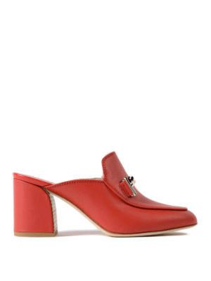 Tod'S: mules shoes - Double T heeled mules