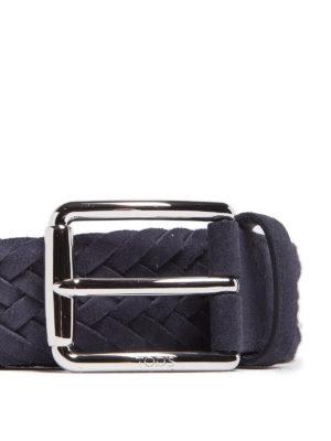 TOD'S: cinture online - Cintura a intreccio in camoscio