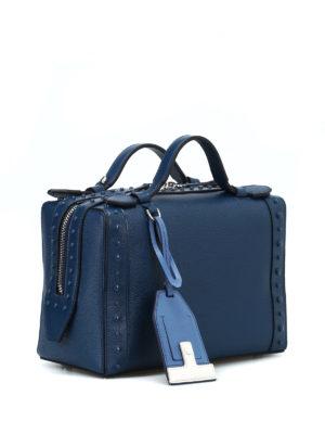 TOD'S: bauletti online - Bauletto in pelle blu petrolio
