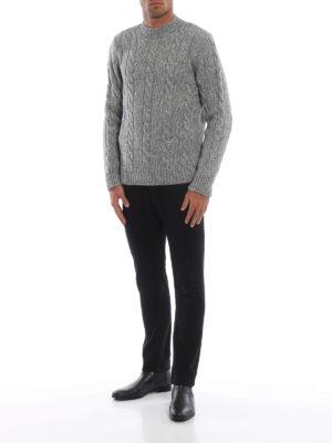 TOD'S: maglia collo rotondo online - Girocollo in misto cotone lana e alpaca