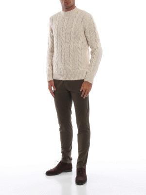 TOD'S: maglia collo rotondo online - Girocollo écru in misto cotone lana e alpaca