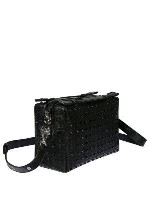 TOD'S: borse a tracolla online - Mini bauletto in pelle nera Gommini Bag