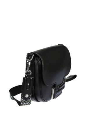 TOD'S: borse a tracolla online - Borsa a tracolla in pelle nera  Double T