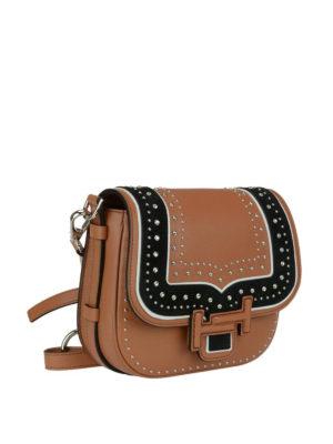 TOD'S: borse a tracolla online - Bandoliera mini Double T decorata