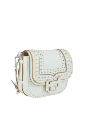 TOD'S: borse a tracolla online - Bandoliera mini bianca Double T
