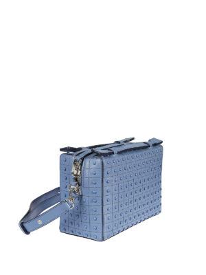 TOD'S: borse a tracolla online - Mini bauletto azzurro Gommini Bag