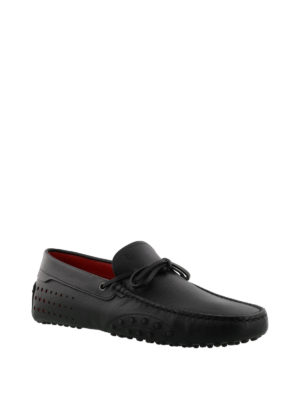 TOD'S: Mocassini e slippers online - Mocassini Gommino-Ferrari neri