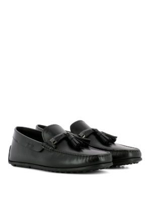TOD'S: Mocassini e slippers online - Mocassini neri City Spider