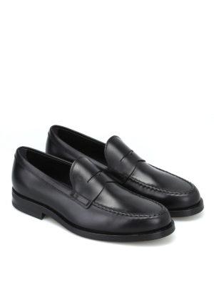 TOD'S: Mocassini e slippers online - Mocassino formale nero in pelle