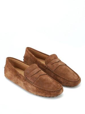 TOD'S: Mocassini e slippers online - Mocassini driver camoscio marrone