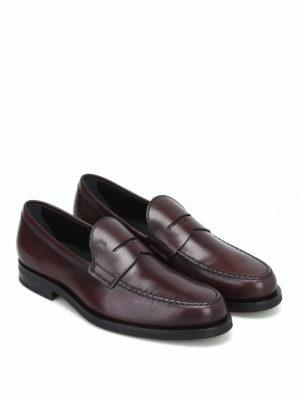 TOD'S: Mocassini e slippers online - Mocassino formale in pelle marrone bruciato