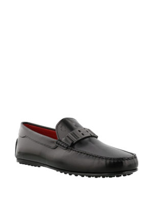 TOD'S: Mocassini e slippers online - Mocassini neri City Gommino-Ferrari