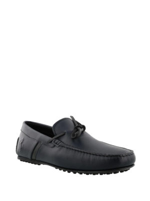 TOD'S: Mocassini e slippers online - Mocassini blu City Gommino-Ferrari