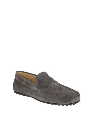 TOD'S: Mocassini e slippers online - Mocassino City Gommino grigio
