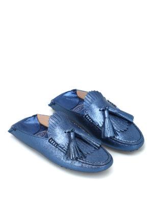TOD'S: Mocassini e slippers online - Slipper con nappine e frangia