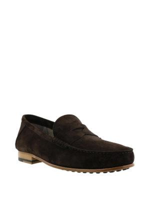 TOD'S: Mocassini e slippers online - Mocassino scamosciato marrone