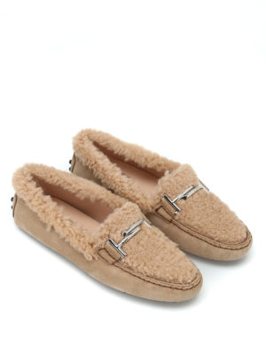 TOD'S: Mocassini e slippers online - Mocassini Gommini Double T in montone