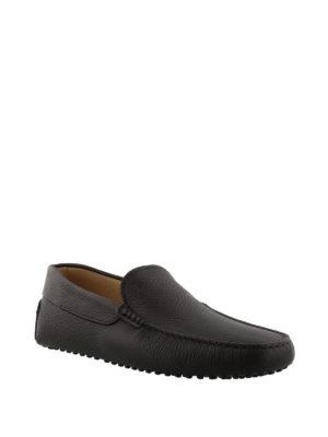 TOD'S: Mocassini e slippers online - Mocassini Gommino in pelle marrone