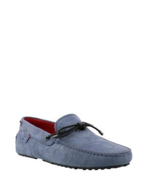TOD'S: Mocassini e slippers online - Mocassini blu avio Gommino-Ferrari