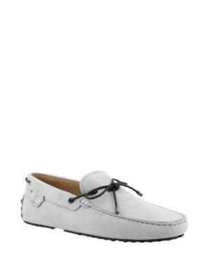 TOD'S: Mocassini e slippers online - Mocassini azzurri Gommino-Ferrari