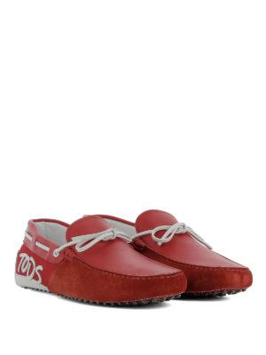 TOD'S: Mocassini e slippers online - Mocassini Gommino rossi e bianchi