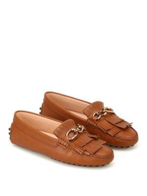 TOD'S: Mocassini e slippers online - Mocassini Heaven con frange