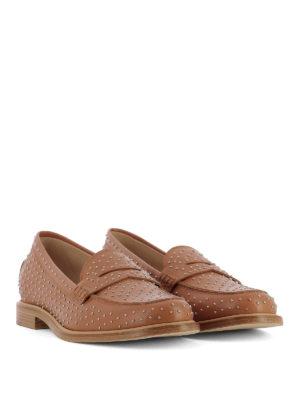 TOD'S: Mocassini e slippers online - Mocassini in pelle con borchie