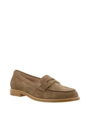 TOD'S: Mocassini e slippers online - Mocassino in pelle scamosciata