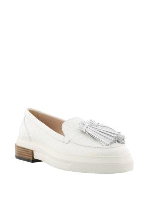 TOD'S: Mocassini e slippers online - Mocassini bianchi con maxi suola