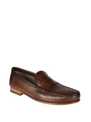 TOD'S: Mocassini e slippers online - Mocassini in pelle semi lucida