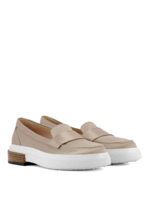 TOD'S: Mocassini e slippers online - Mocassini in raso di seta