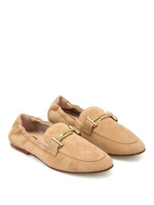 TOD'S: Mocassini e slippers online - Mocassini in camoscio con elastico