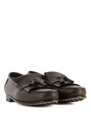 TOD'S: Mocassini e slippers online - Mocassini con frangia e nappine