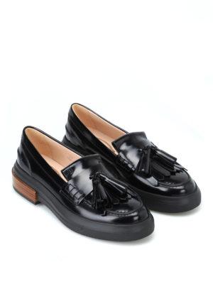 TOD'S: Mocassini e slippers online - Mocassini spazzolati con nappe