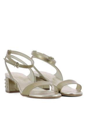 TOD'S: sandali online - Sandali in pelle con gommini