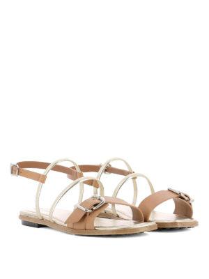 TOD'S: sandali online - Sandali piatti bicolori